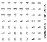 mobile phone signal line icons...