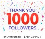 thank you 1000 followers design ... | Shutterstock .eps vector #1784234477