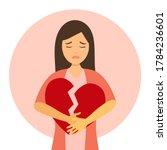 broken heart concept vector... | Shutterstock .eps vector #1784236601