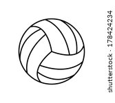 volleyball ball   vector icon | Shutterstock .eps vector #178424234