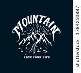 mountain artwork vintage... | Shutterstock .eps vector #1784250887