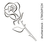 one line drawing of a rose...   Shutterstock .eps vector #1784269124