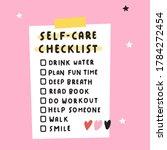 personal self care checklist.... | Shutterstock .eps vector #1784272454