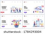 online training education...   Shutterstock .eps vector #1784293004