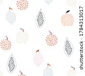 seamless fruit pattern with...   Shutterstock .eps vector #1784313017