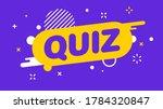 Modern Banner Quiz. Banner For...