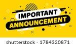 modern banner important... | Shutterstock .eps vector #1784320871