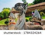 Ancient Statue Of Prathat...