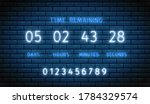 countdown timer. neon clock...