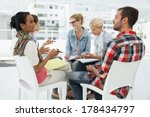 group of casual young people in ... | Shutterstock . vector #178434797