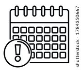 calendar date innovation icon....
