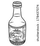 beer bottle   cartoon vector... | Shutterstock .eps vector #178437074