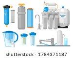 water filters. countertop ... | Shutterstock . vector #1784371187