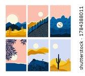 vector abstract landscape set   ... | Shutterstock .eps vector #1784388011