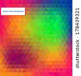 abstract vector polygonal... | Shutterstock .eps vector #178439321
