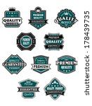 retro labels set with western... | Shutterstock .eps vector #178439735