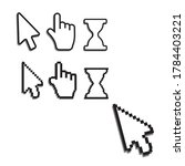 pixel cursors icons. mouse... | Shutterstock . vector #1784403221