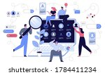 man and woman headhunters view... | Shutterstock .eps vector #1784411234
