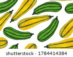 Seamless Pattern With Squash ...