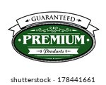 premium guaranteed products... | Shutterstock .eps vector #178441661