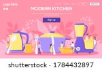 modern kitchen website concept...