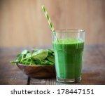 spinach smoothie | Shutterstock . vector #178447151