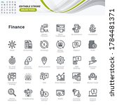 thin line icons set of finance. ... | Shutterstock .eps vector #1784481371