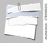 blank note paper with clip ... | Shutterstock .eps vector #1784500241
