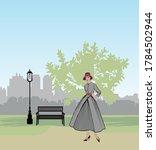 retro fashion dressed woman ...   Shutterstock .eps vector #1784502944