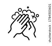 hands wash vector icon...   Shutterstock .eps vector #1784503601