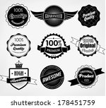 set of premium quality and... | Shutterstock . vector #178451759