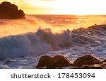 wave on the beach   Shutterstock . vector #178453094