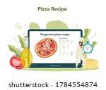 pizzeria online service or... | Shutterstock .eps vector #1784554874
