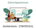 hairdresser online service or...   Shutterstock .eps vector #1784555141