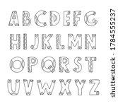 decorative hand drawn abc latin ... | Shutterstock .eps vector #1784555237