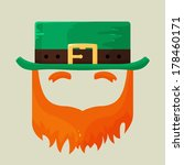 apostle,beard,cartoon,celebration,cleric,cultural,day,faceless,festival,green,hat,holiday,icon,illustration,ireland