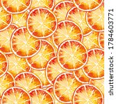 watercolor pattern with round... | Shutterstock . vector #1784603771