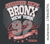 bronx t shirt graphics. new...   Shutterstock .eps vector #1784630741