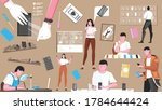 smartphone flat icon set with...   Shutterstock .eps vector #1784644424