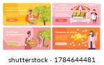 citrus flat banners set with... | Shutterstock .eps vector #1784644481