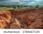 Erosion Of The Land In The...