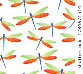 Dragonfly Decorative Seamless...