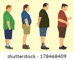 fat men | Shutterstock .eps vector #178468409