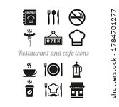 restaurant and cafe icons set... | Shutterstock .eps vector #1784701277