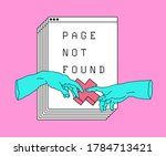page not found design template. ... | Shutterstock .eps vector #1784713421