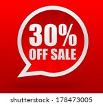 thirty percent off | Shutterstock . vector #178473005