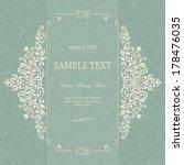 vintage background  antique... | Shutterstock .eps vector #178476035
