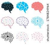 set of modern brain link...   Shutterstock .eps vector #1784824964