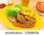 baked hamburger with tomato... | Shutterstock . vector #17848426