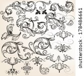 vector set of calligraphic... | Shutterstock .eps vector #178486661